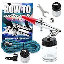 PointZero Premium Single-action 22cc Siphon-feed Airbrush Set - 0.8mm