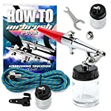 PointZero Premium Single Action 22cc Siphon Feed Airbrush Set - .8mm
