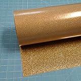 Light Gold Glitterflex Ultra 19.5'' x 10' (10 feet), Heat Transfer Vinyl, Glitter, HTV