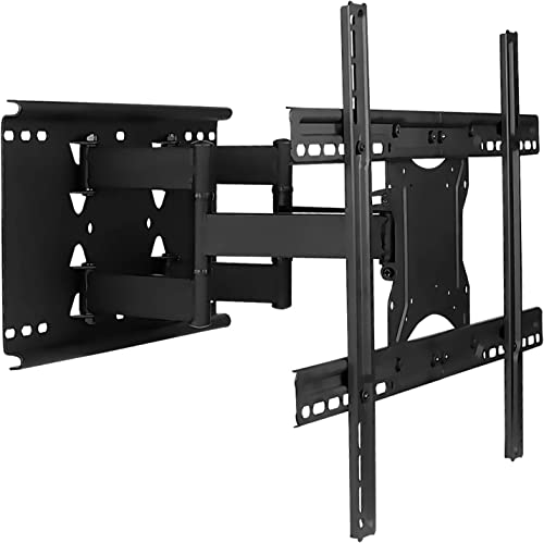 Mount-It Full Motion TV Wall Mount with Dual Articulating Arms Universal TV Wall Mount Bracket Fits 32, 42, 50, 55, 60, 70, 82 Inch TVs Up to 132lbs Heavy-Duty Steel VESA 100×100 to 600x400mm
