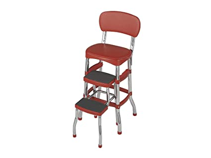 Awesome Amazon Com Home Decor 11120Red1E Retro Counter Chair Home Ncnpc Chair Design For Home Ncnpcorg