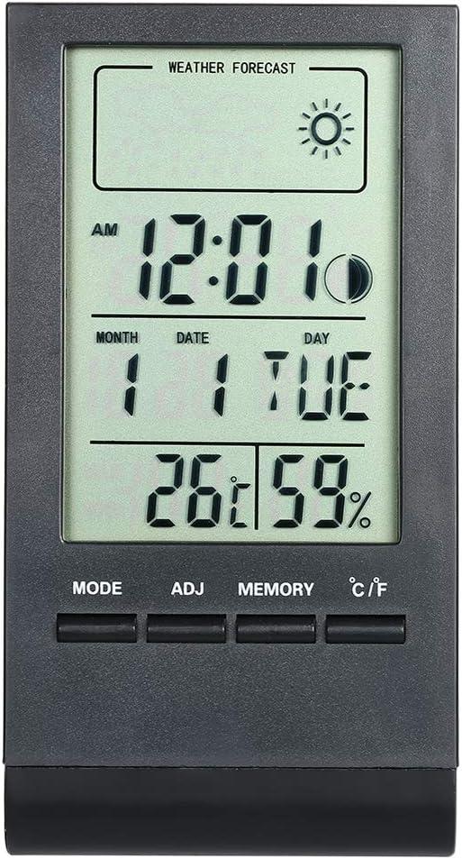 Kyhon Mini Thermom/ètre num/érique Hygrom/ètre Num/érique Temp/érature et Humidim/ètre avec /Écran LCD et Symboles du Visage Surveillance de la temp/érature et de la Maison