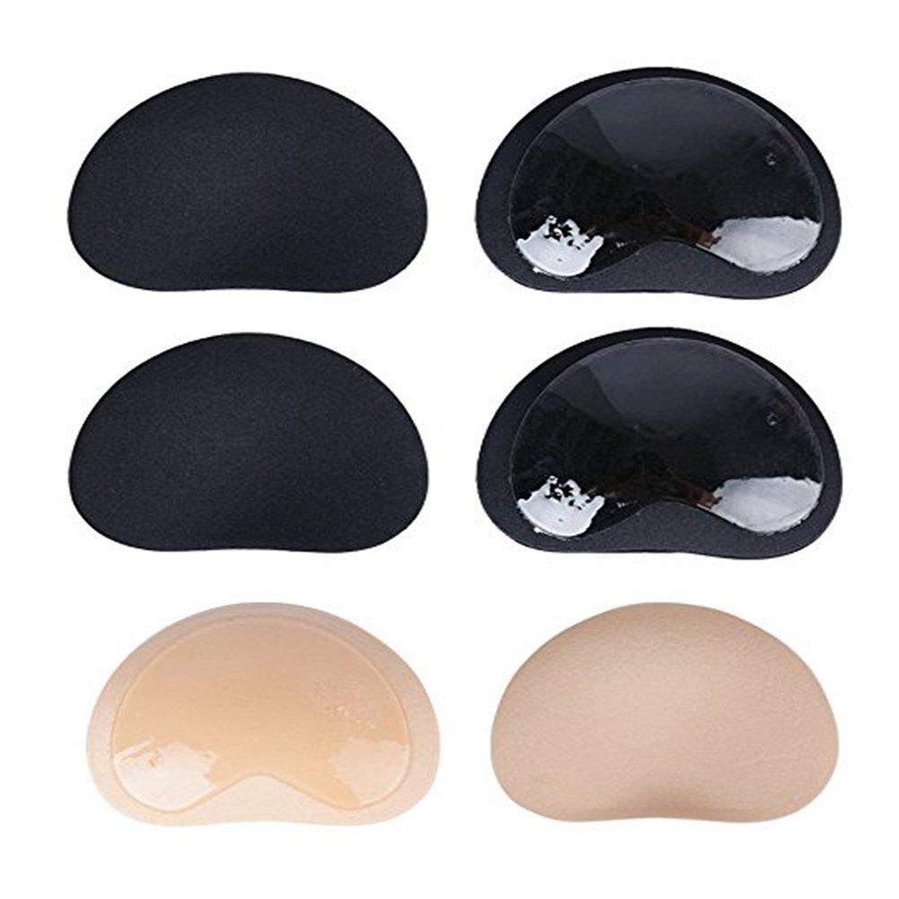 BBIU 3 Paar Schwamm Einlagen Pads Breast Enhancer Push Up Bra Einlagen Selbstklebend Silikon Brust Vergrößerung Pads für A B C D Cup BH Badeanzug und Bikini
