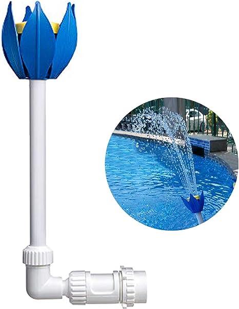 Amazon Com Zconiey Pool Fountain Fun Water Sprinkler Above Inground Swimming Pool Waterfalls Spray Pond Decor Kitchen Dining