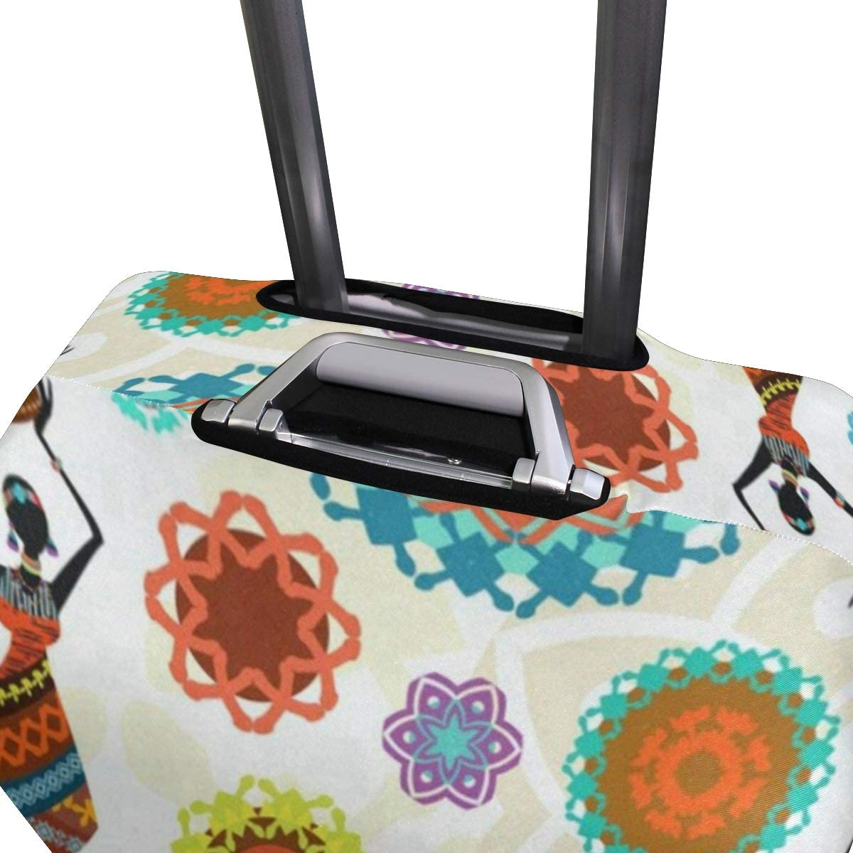 Suitcase Cover African Woman Sun Luggage Cover Travel Case Bag Protector for Kid Girls