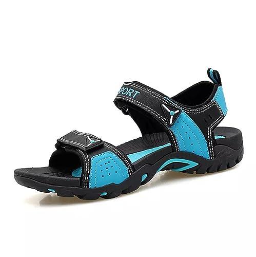 Sandalias Verano Mujer Deportivas Trekking Zapatillas Playa Senderismo Zapatos Cuero Velcro Pescador Antideslizantes Casual: Amazon.es: Zapatos y ...