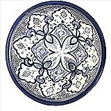 Handpainted Blue Medium Moroccan Ceramic Bowl