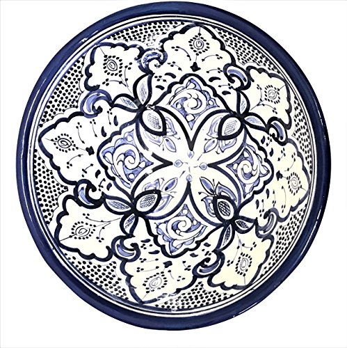 Handpainted Blue Medium Moroccan Ceramic Bowl by Atlas Showroom