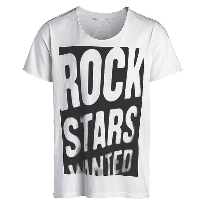 Rock Stars & Angels Men – Camiseta Wanted Blanco Weiß XX-Large