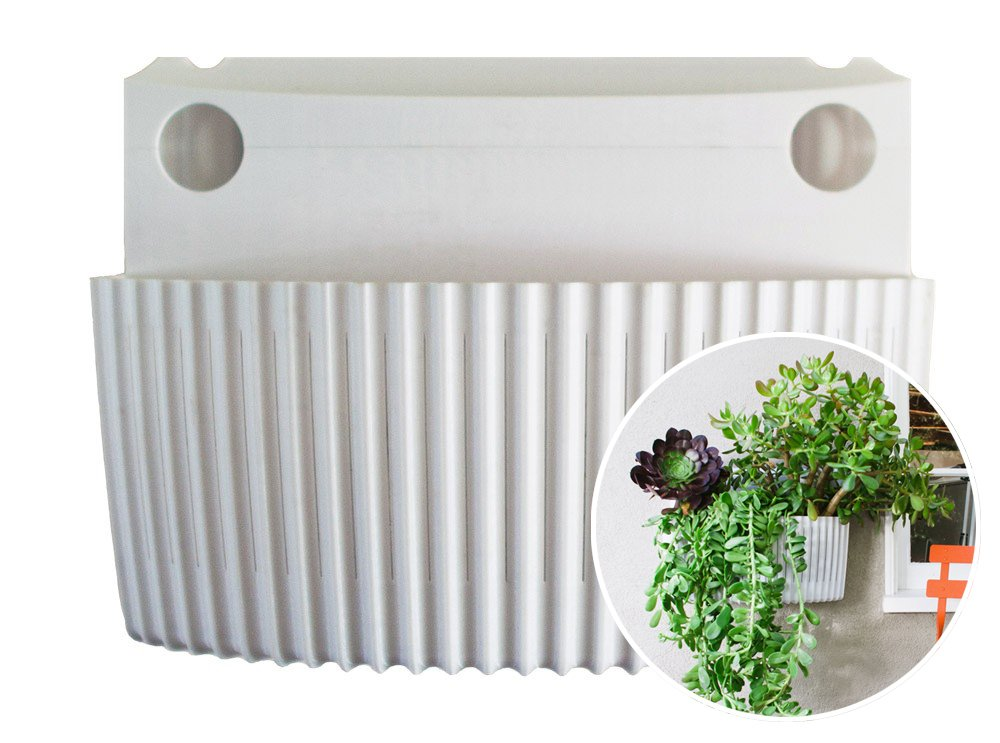 Living Wall Planter, Vertical Garden, Indoor/Outdoor Woolly Pocket (works  Indoors And Outdoors) (Color: White) Living Wall Planter Vertical Garden  (Modular, ...
