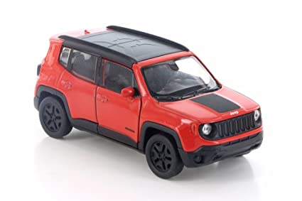 Red Jeep Renegade >> Amazon Com Welly 2017 Jeep Renegade Trailhawk Red W Black