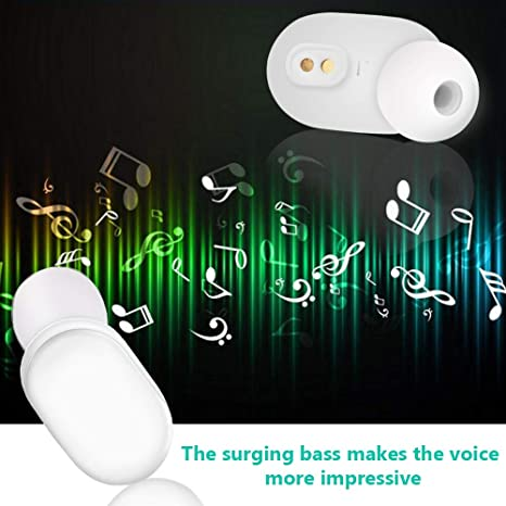 Xiaomi Airdots Bluetooth Auriculares ,Hongtianyuan Auriculares estéreo Bluetooth V5.0, Encendido/Apagado automático, Conversación binaural,Cargador ...