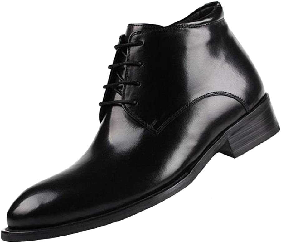 Santimon Men's Lace-up Ankle Boots