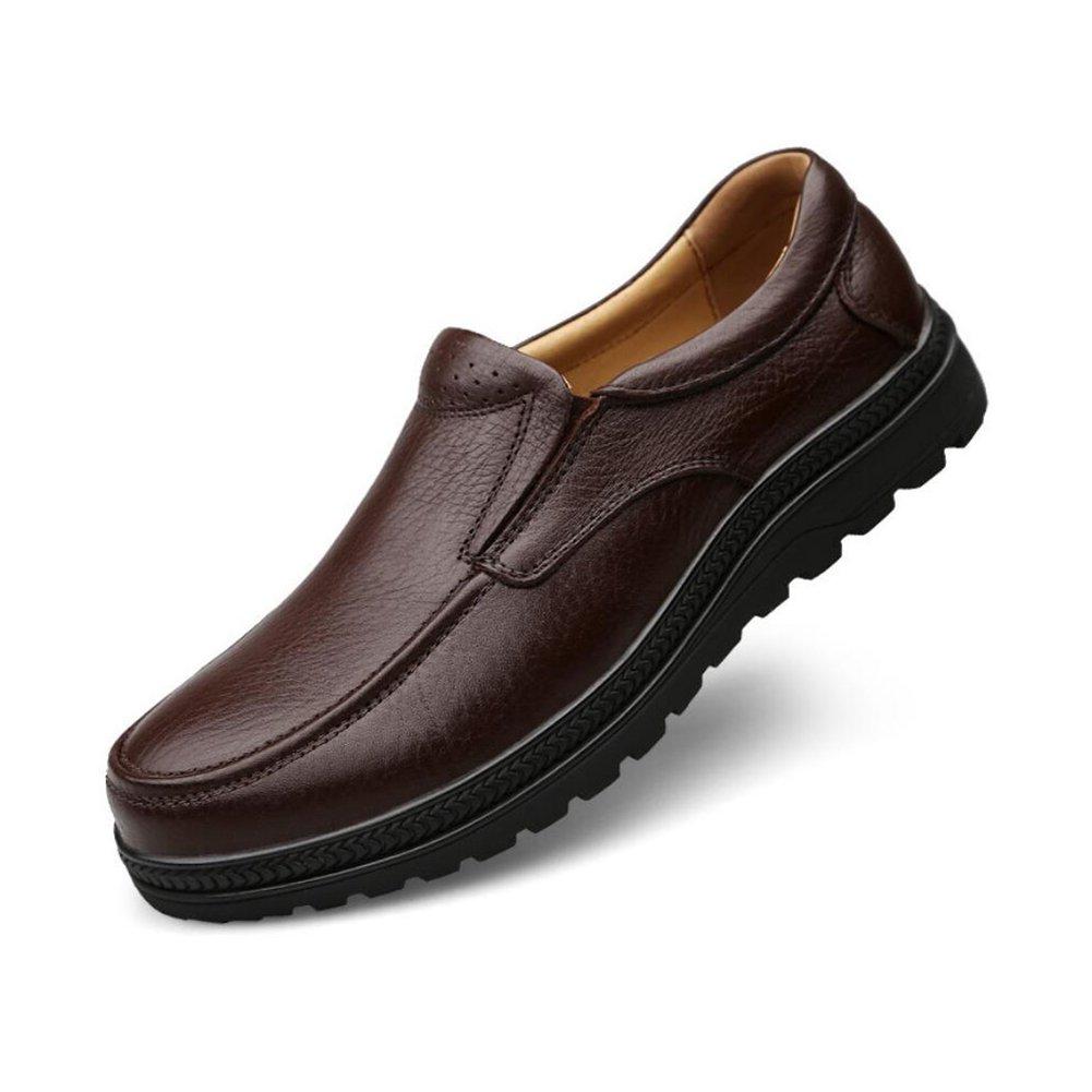 CAI Herrenschuhe Frühling/Sommer / Herbst Mitte/Alter Loafer & Slip-Ons Daddy Schuhe Geschäft Schuhe Freizeitschuhe Schuhe Größe Herren Schuhe (Farbe : Braun, Größe : 38)