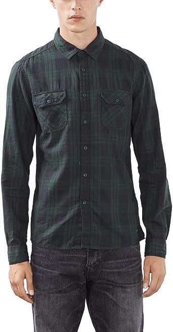 edc by ESPRIT 096CC2F006, Camisa Hombre, Verde (OLIVE), X-Large: Amazon.es: Ropa y accesorios