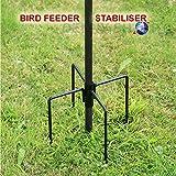 Wild Bird Feeding Station Stabiliser For Garden Outdoor Feeding Feeder Feet Ground Spikes Stand in Black Colo