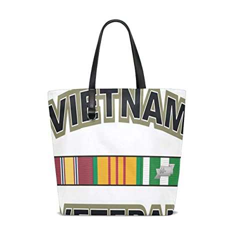 Amazon.com | Green Vietnam Veteran Tote Bag Purse Handbag ...
