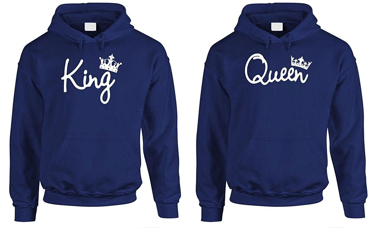 292062e9e21 Amazon.com  King Queen - Couples Two Hoodie Combo Pack  Clothing