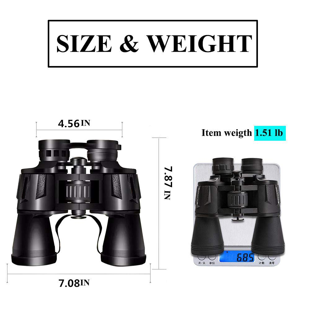 20X50 Binoculars, HD Professional Binoculars with BAK4 Prism for Bird Watching Travel Stargazing Hunting Concerts Sports, Binoculars with Carrying Bag for Adults & Kids by AIRUI