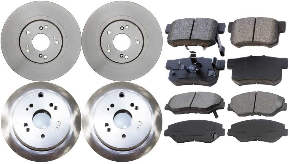 Auto Shack SCD9146738 Front and Rear Brake Rotors and Ceramic Pads
