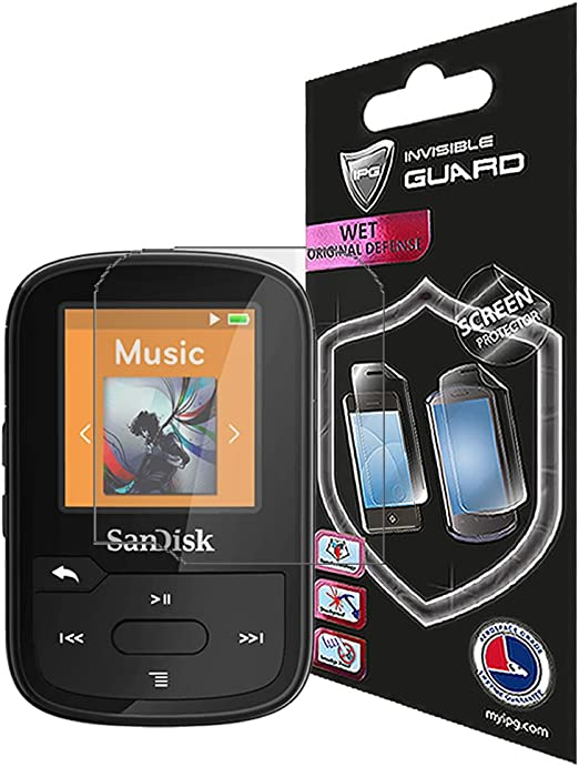 Savvies Screen Protector compatible with SanDisk Sansa Clip Zip Screen Protector Clear Protection Film 6 Pack