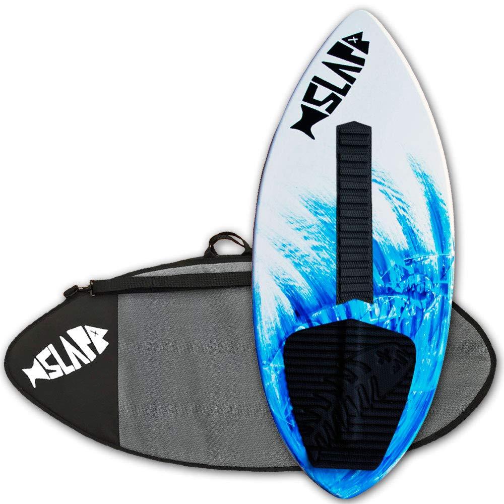 Slapfish Skimboards - Fiberglass & Carbon with Traction Deck Grip - Kids & Adults - 2 Sizes - Blue (41'' Board w/Arch Bar & Bag)