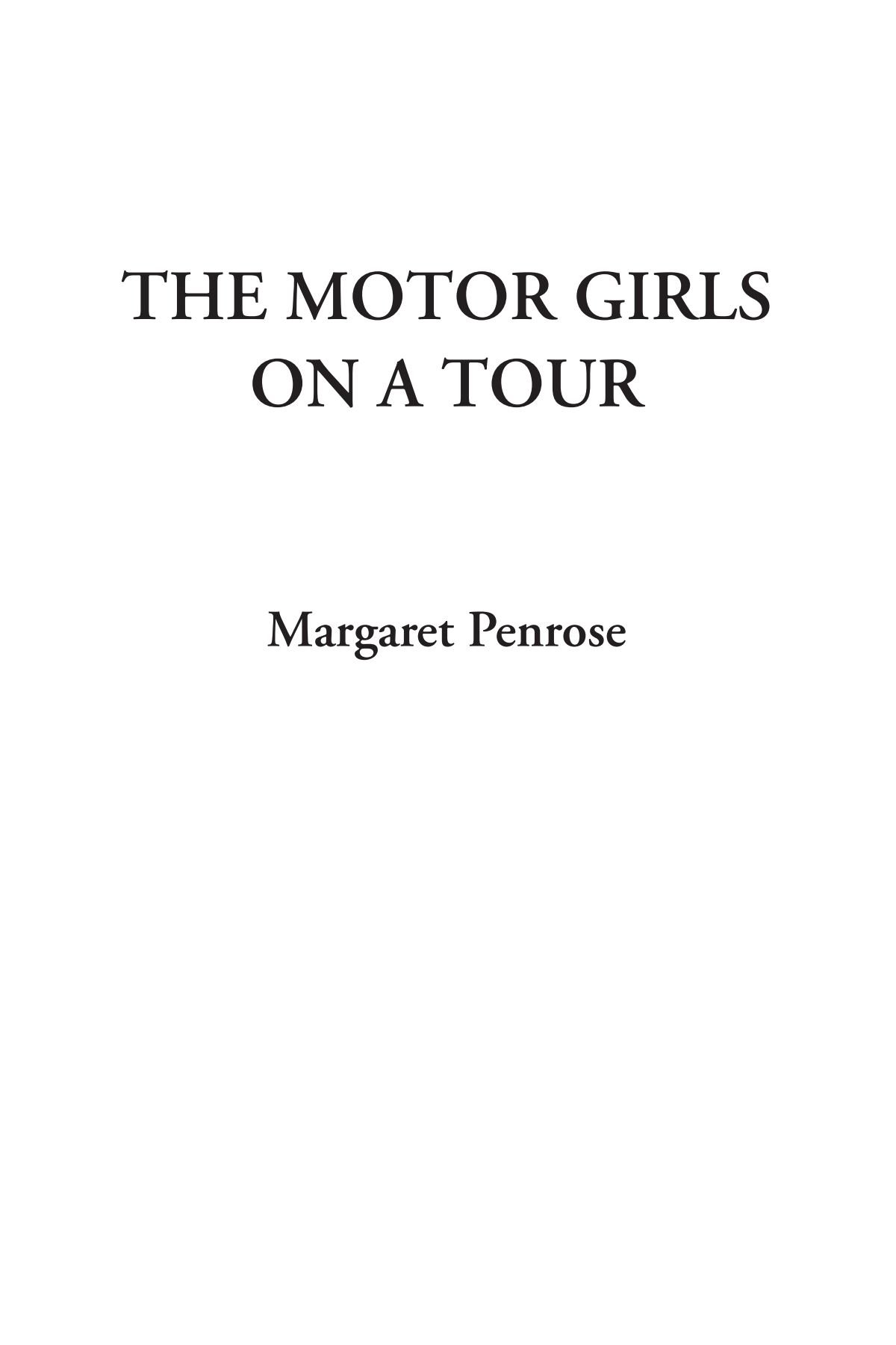 The Motor Girls on a Tour ebook