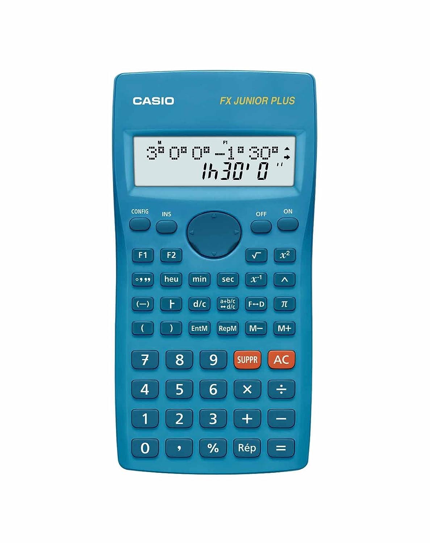 Casio FX-Junior Plus-Calcolatrice scuola 2 linee 15 caratteri francese
