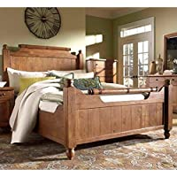 Broyhill Attic Heirlooms Weathered & Distressed Feather Bed - Queen/Rustic Oak