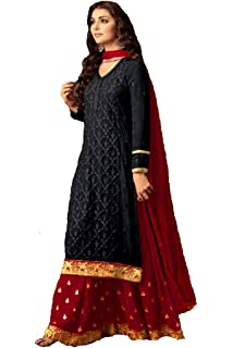 1408582ae7 Delisa Indian/Pakistani Ethnic wear Georgette Plaazo\sharara for Womens  sharara Dress Indian Women