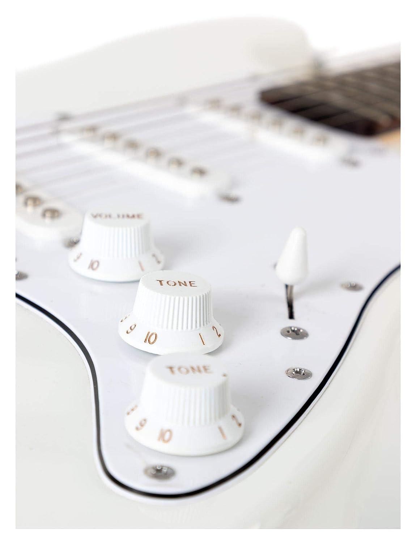 Guitarra Eléctrica Shaman Element Series STX-100B blanca: Amazon.es: Instrumentos musicales