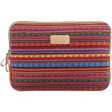 Bronze Times (TM) Bohemian Style Shockproof Canvas Fluff Laptop Sleeve Case Bag