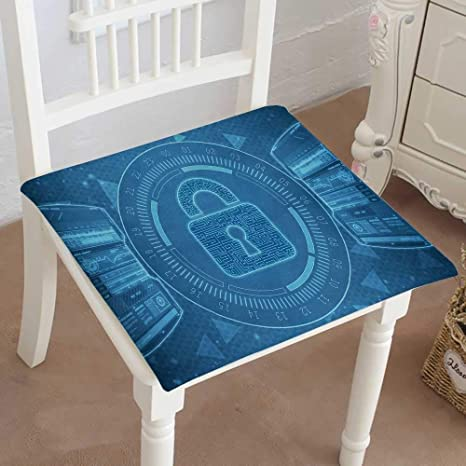 Mikihome Indoor Outdoor All Weather Chair Pads Security Concept Lock