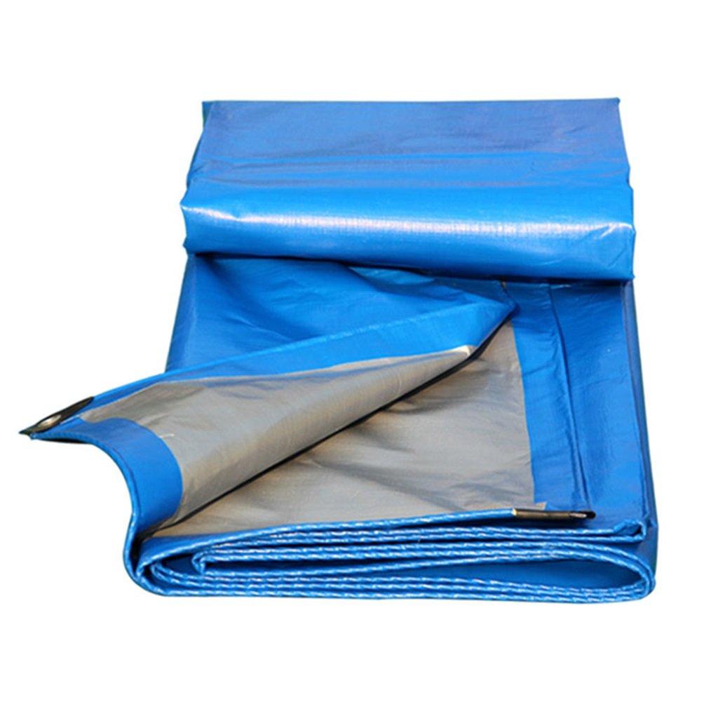 LIYin Tela Cerata Impermeabile Blu Tarpaulin - Resistente ai Raggi UV, anticorrosione, Tela a Prova di Strappo, Bordi rinforzati, opzioni Multi-dimensionali (Dimensioni   4MX5M)