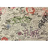 Graffiti Full Size Futon Cover, 54 Inch x 75 Inch - Proudly Made in USA
