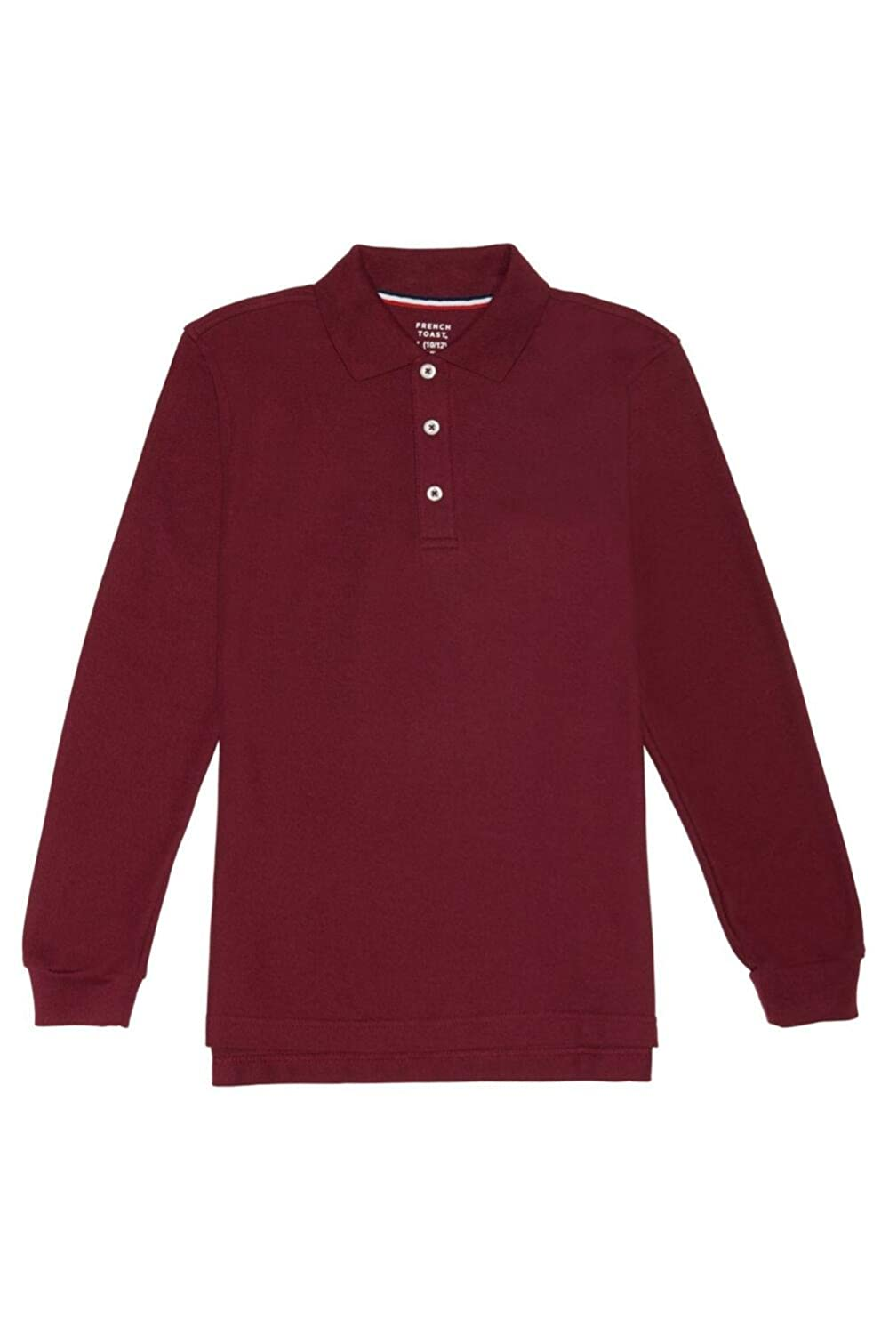 French Toast Long Sleeve Pique Polo Boys Burgundy 14 Husky French Toast School Uniforms 1009T BURG 14H