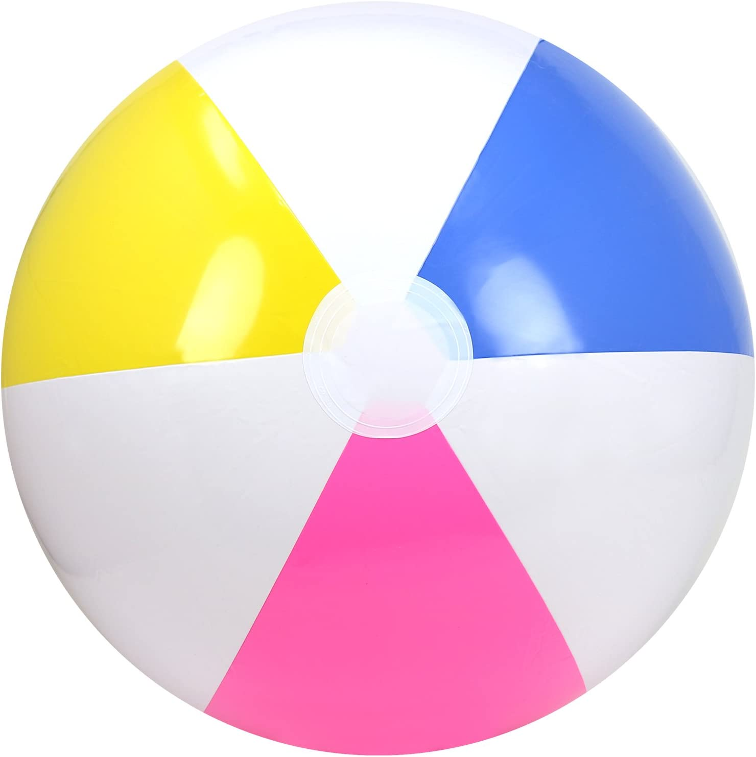 water fun beach ball /Ø 22 cm /Ø 22 cm - 01 pieces beach ball com-four/® inflatable fabric beach ball as beach volleyball for the summer in neon yellow and blue