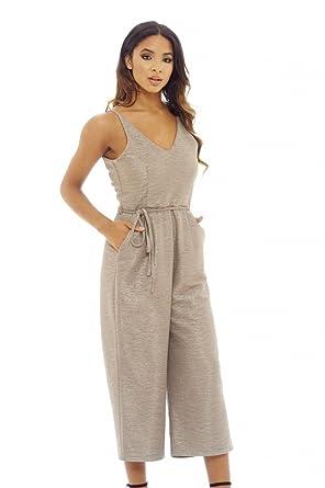 179521df9cc7 Amazon.com  AX Paris Women s Strappy Culotte Jumpsuit  Clothing