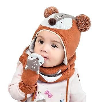 4ab1c147adc Amazon.com   Baby Hat+Scarf+Gloves Set