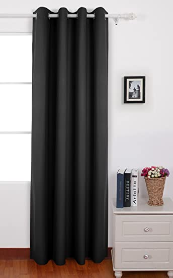 Kitchen Curtains black and silver kitchen curtains : Amazon.com: Deconovo Solid Color Oxford Curtains Grommet Sliver ...