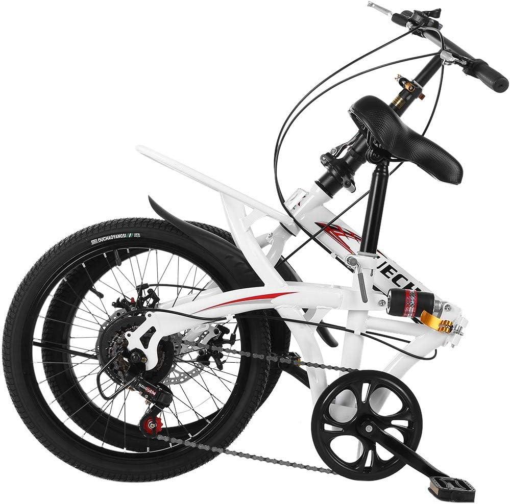 "20/"" 7-SPEED LIGHTWEIGHT FOLDING BIKE COMMUTER BIKES BICYCLES FREE BICYCLE BIKE"