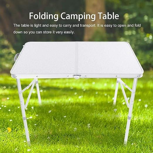 Table de Camping Pique-Nique Pliable Réglable Hauteur Table ...