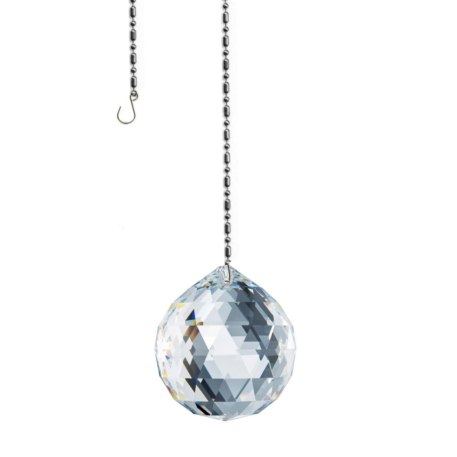 Swarovski 30mm Ball Prism Suncatcher, Rainbow Maker, Feng Shui crystal Amazing Clarity & Shine with Strass Logo Engraved