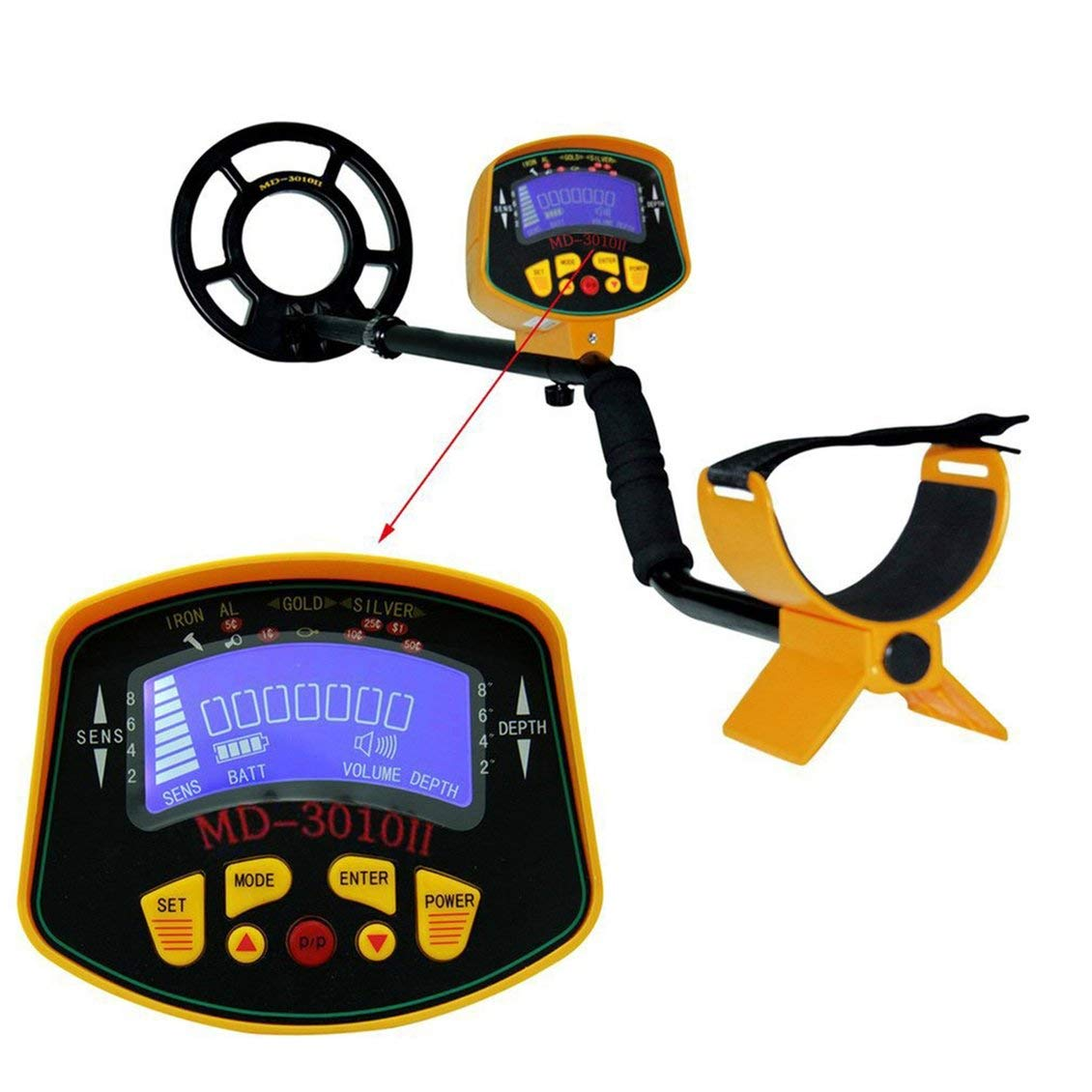 Amazon.com : PGIGE Deep Underground Metal Detector High Sensitivity LCD Display Screen Searching Gold Digger Treasure Hunter Finder Scanner : Garden & ...