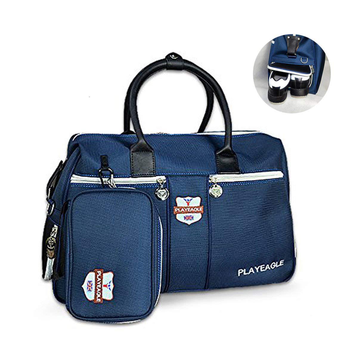 PLAYEAGLE ダッフルバッグ メンズ レディース プレミアム ナイロン素材 ゴルフ ボストンバッグ 靴ポケット付き 旅行旅行用 ミニハンドバッグ付き B07H8ZZ4Q2