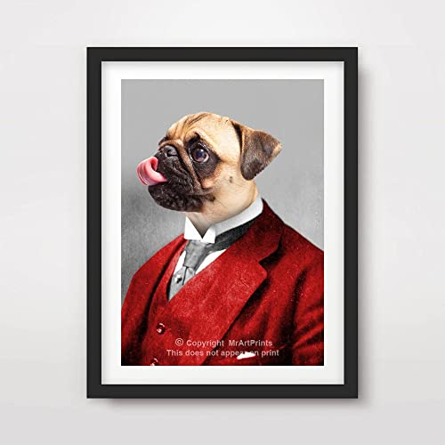 Pug Poster Various Options