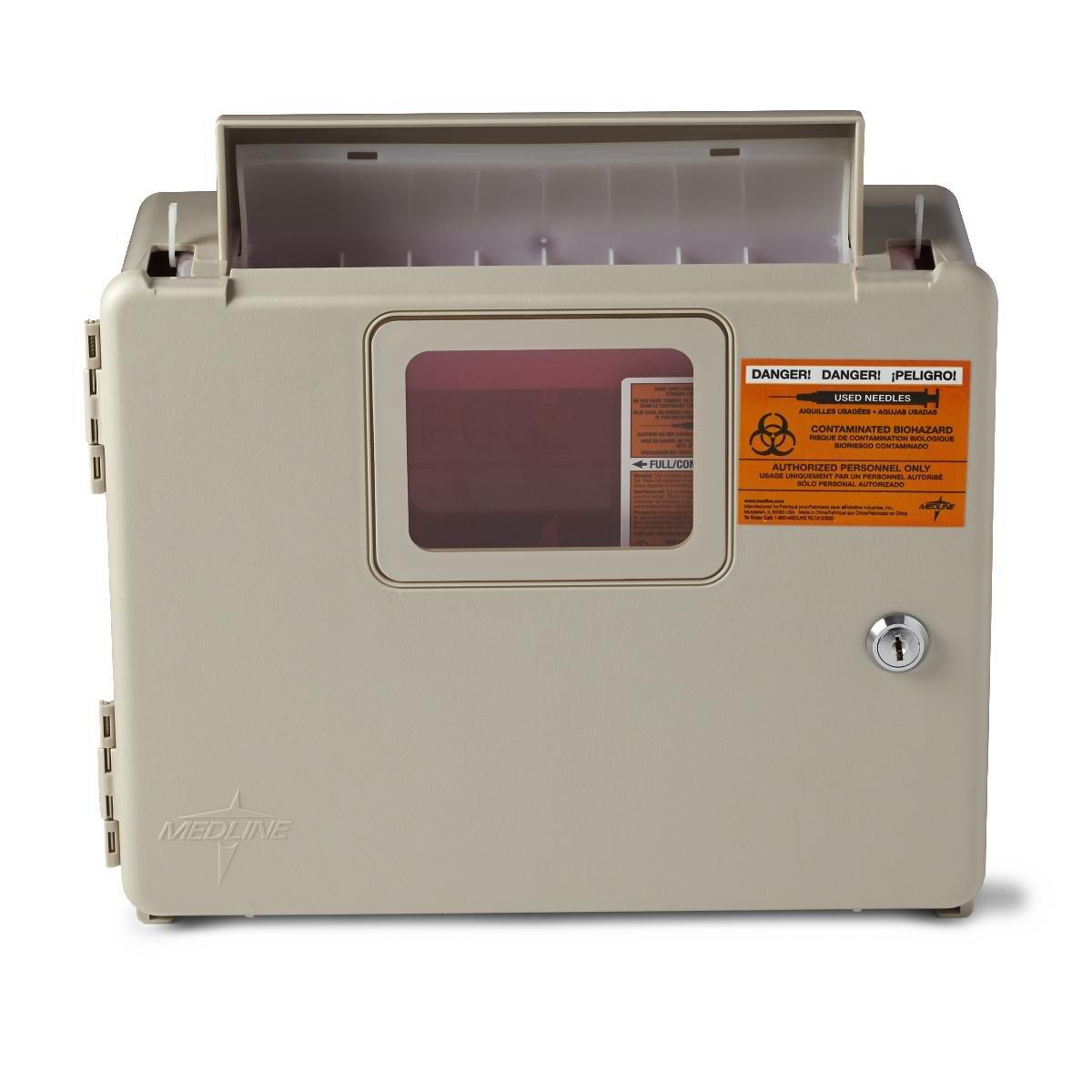 Medline MDS707953 Locking Sharps Container Cabinet