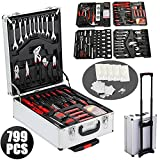3 3 8 clock insert - go2buy 799 Pieces Tool Kit Mechanics Wrenches Socket with Aluminum Trolley