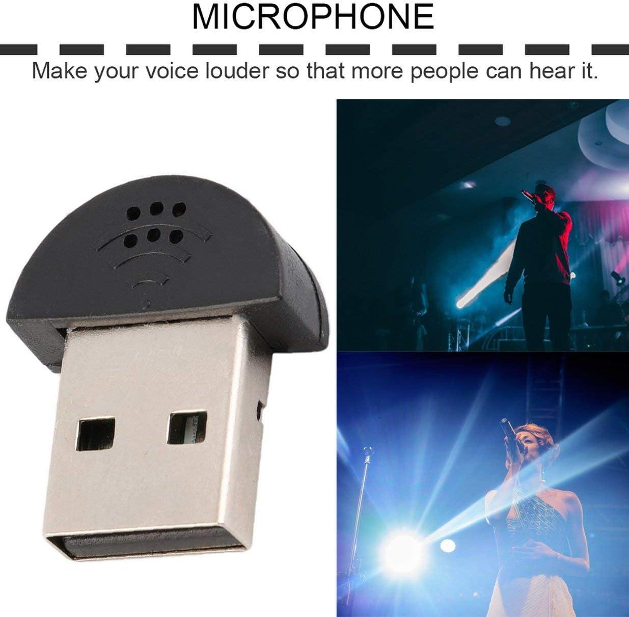 Sairis Super USB Mini Microfono USB 2.0 leggero MIC Adattatore audio 100-16kHz per PC Notebook Laptopest