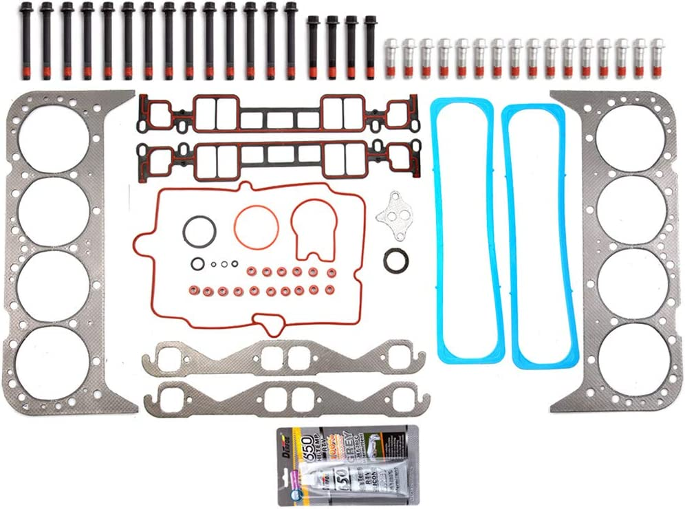 Aintier Automotive Replacement Head Gasket Sets Head Bolts Fits For GMC C3500 2-Door 5.7L
